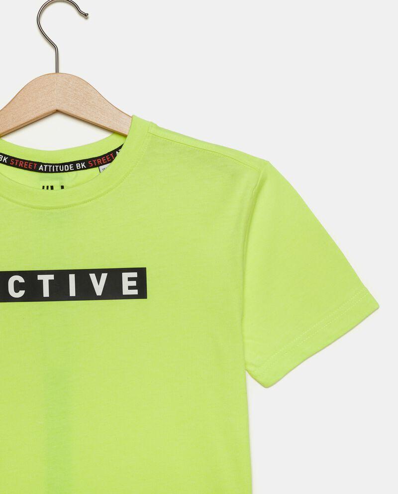 T-shirt con lettering ragazzo single tile 1