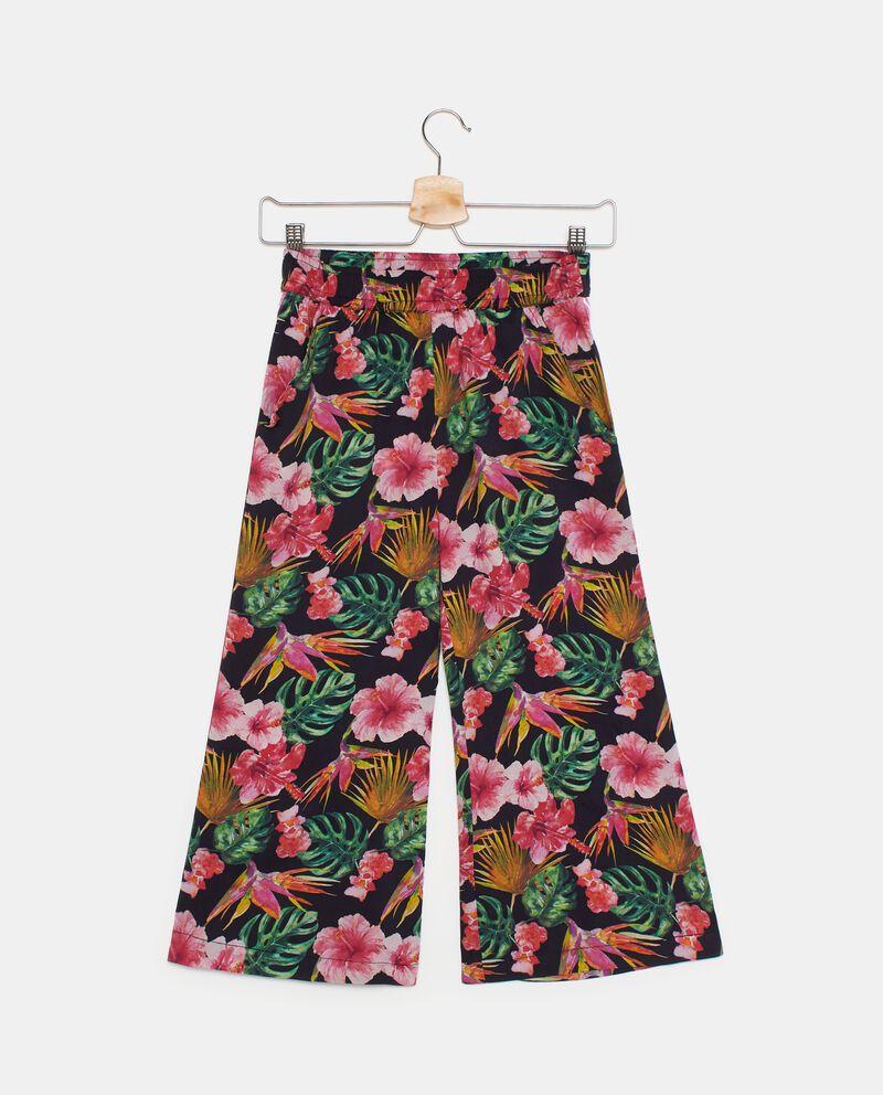 Pantaloni ampi con stampa tropicale ragazza