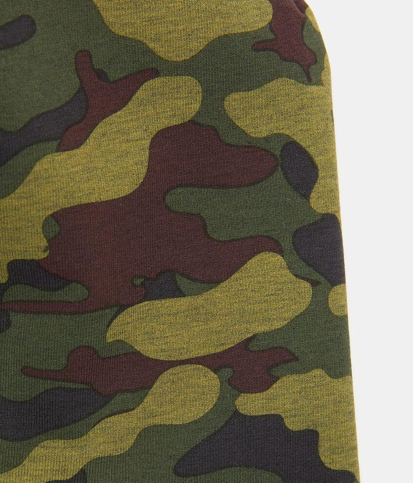 Berretto in fantasia militare di cotone elastico bambino