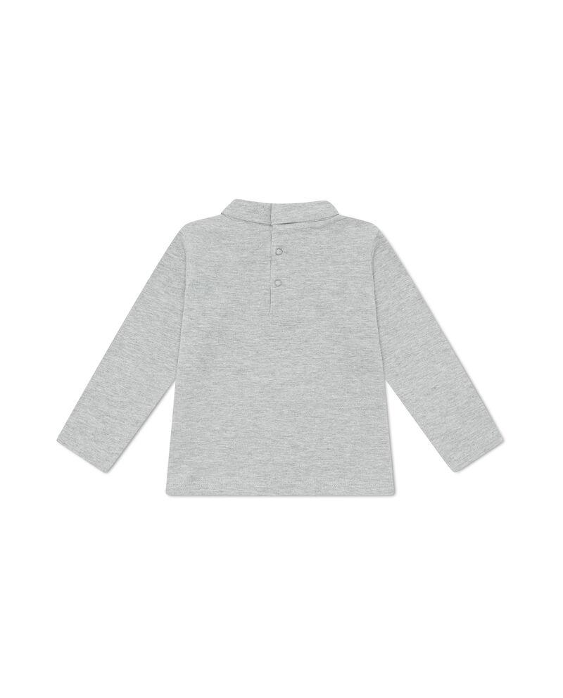 T-shirt mélange collo alto stampata