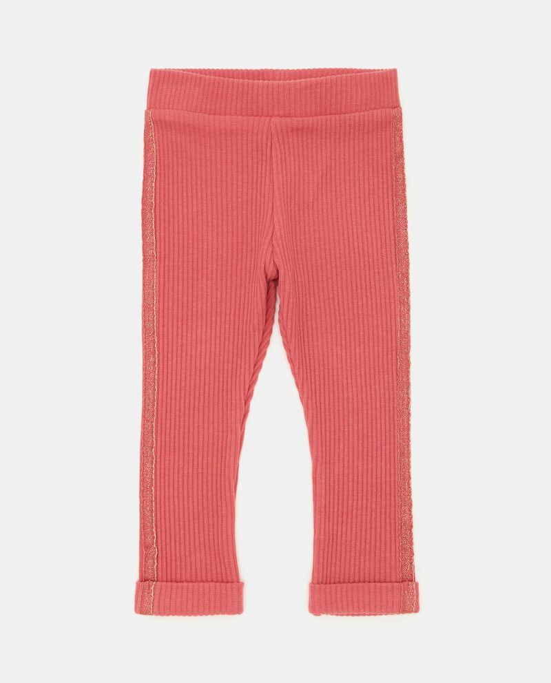 Pantaloni a costine con bande laterali neonata cover