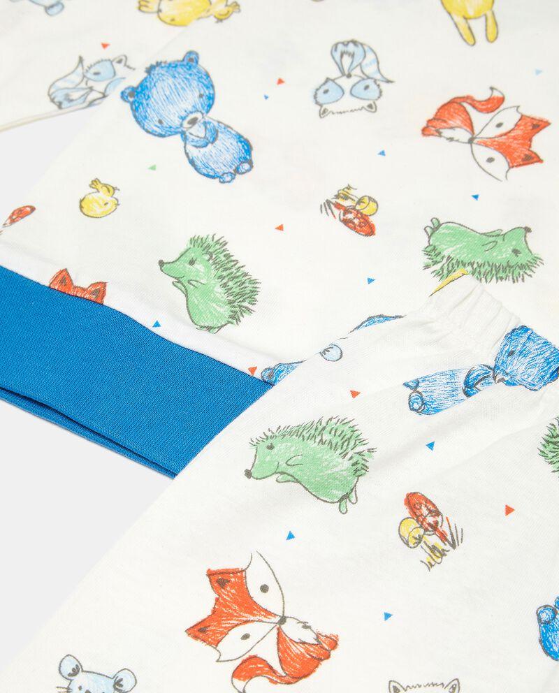 Set pigiama in puro cotone con disegni neonato