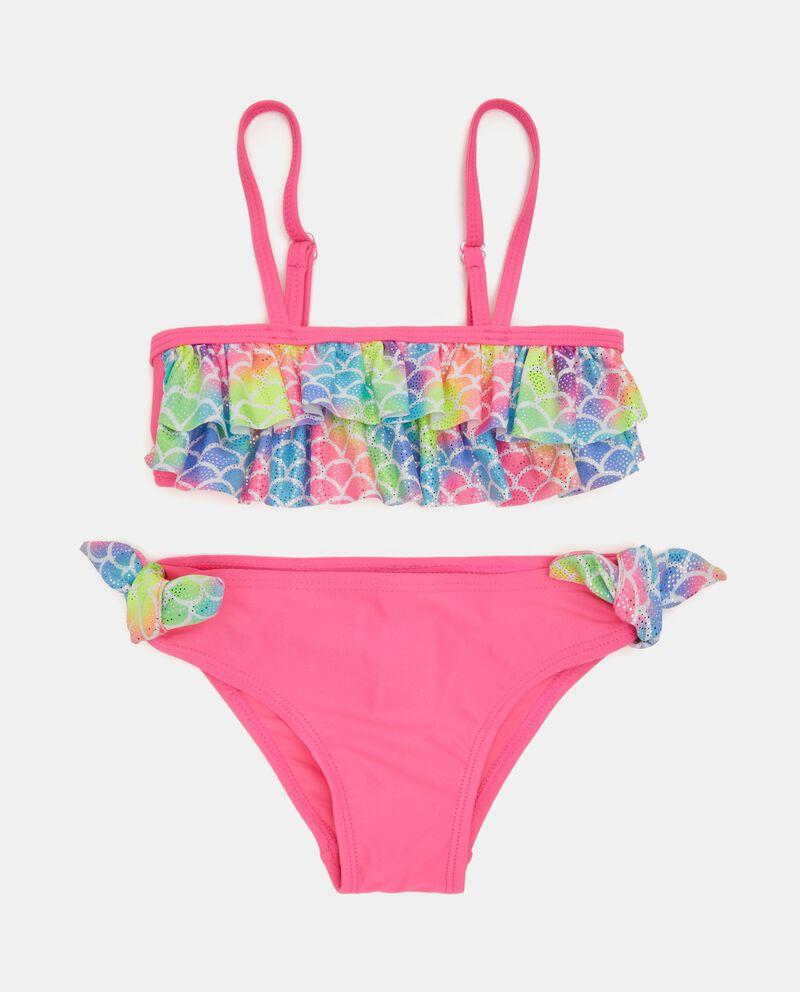 Costume bikini con fantasia colorata bambina