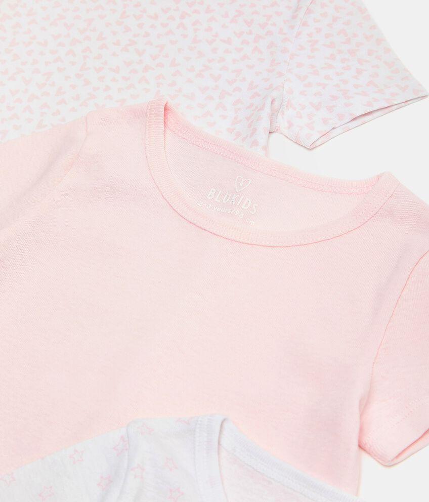Set di 3 t-shirt intime di puro cotone biologico bambina double 2