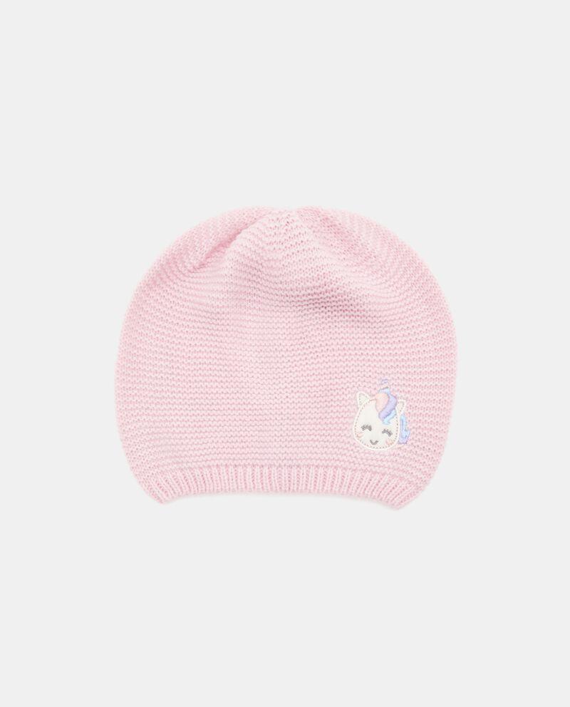 Cappellino crochet con unicorno neonata