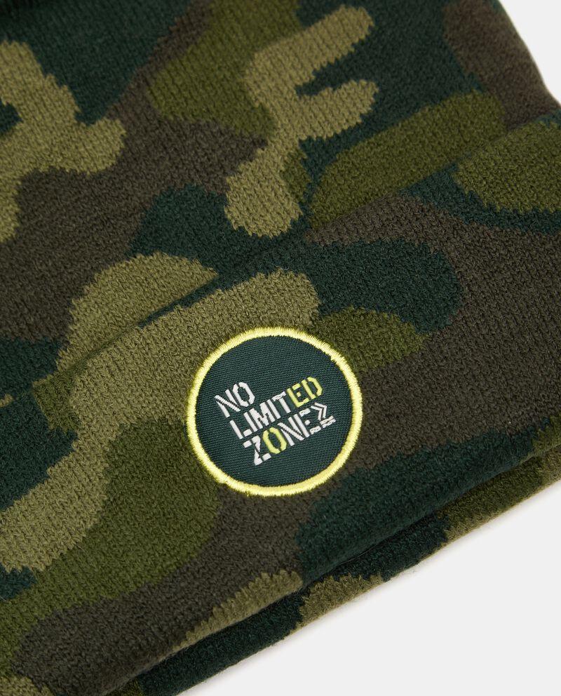 Berretto in maglia con stampa camouflage single tile 1