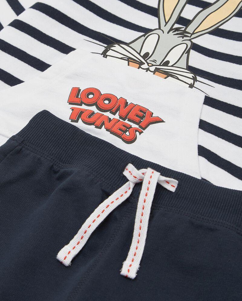 Set jogging puro cotone con maglia e pantaloni neonato
