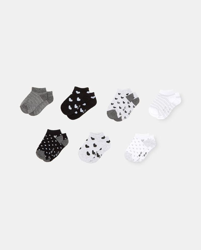 Set con 7 paia di calzini stampati in cotone organico bambina carousel 0