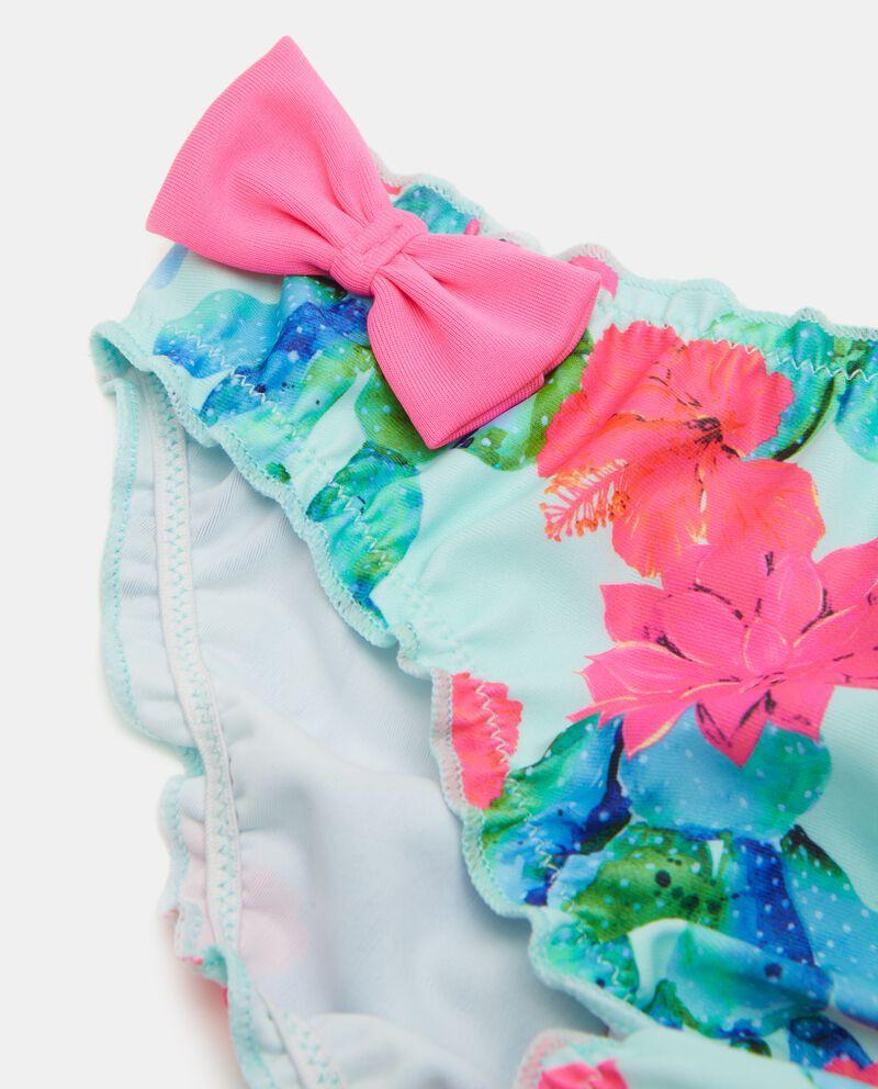 Costume slip in fantasia floreale bambina