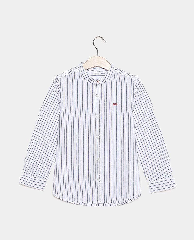 Camicia rigata in cotone misto lino bambinodouble bordered 0