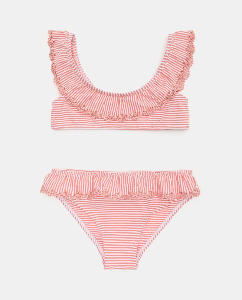 Bikini con motivo a righe bambina
