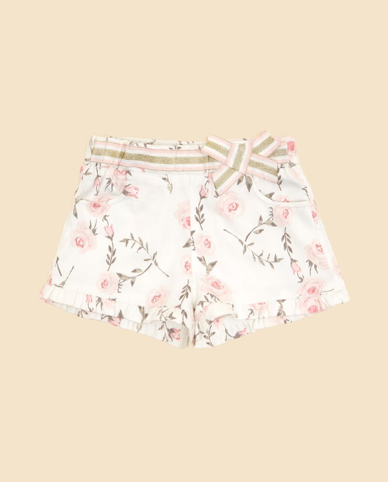 Shorts con fantasia floreale neonata