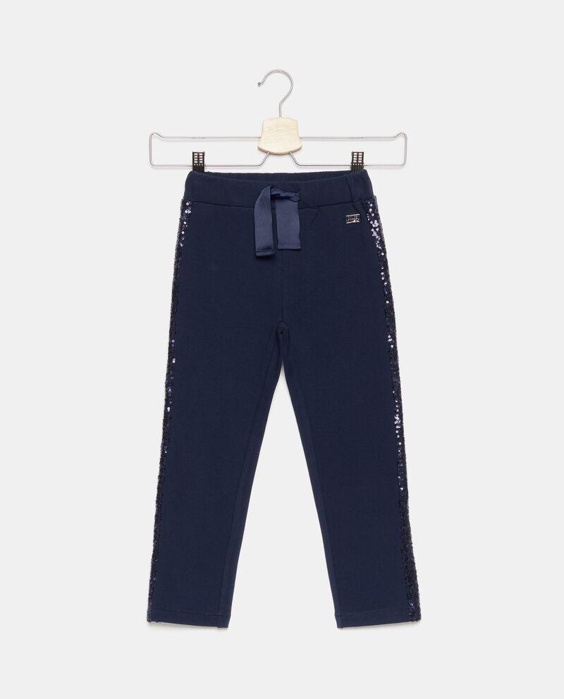Pantaloni con bande in paillettes bambina