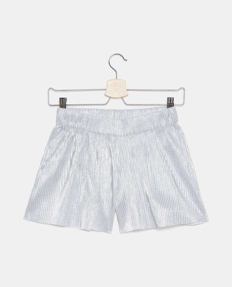 Shorts metallizzati plissé ragazza cover