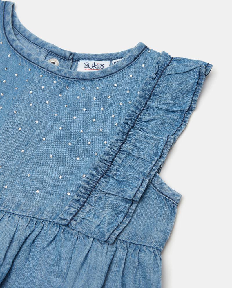 Vestito in lyocell con balze neonata