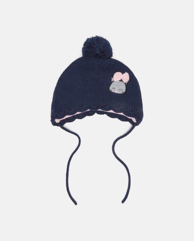 Berretto in maglia con pon pon neonata cover