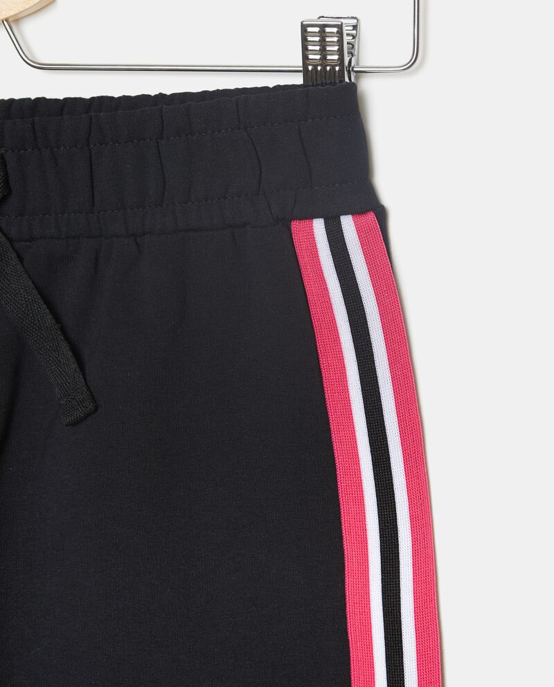 Pantaloni in tinta unita con bande laterali ragazza