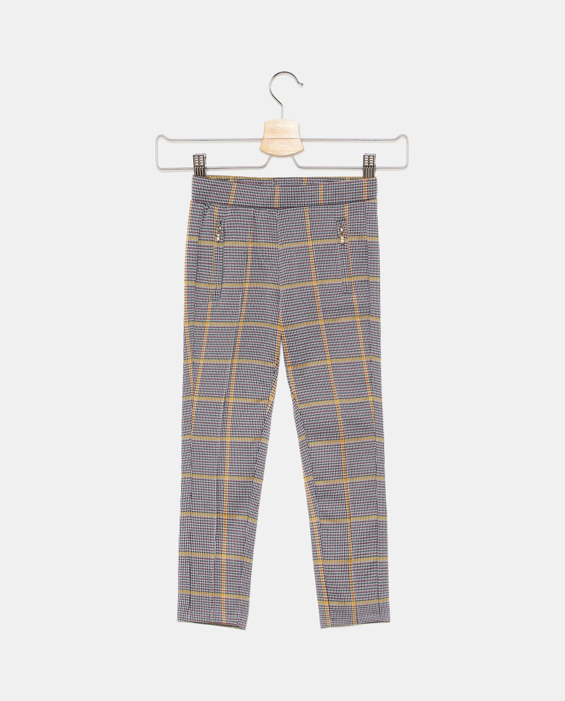 Pantaloni con motivo a quadri bambina