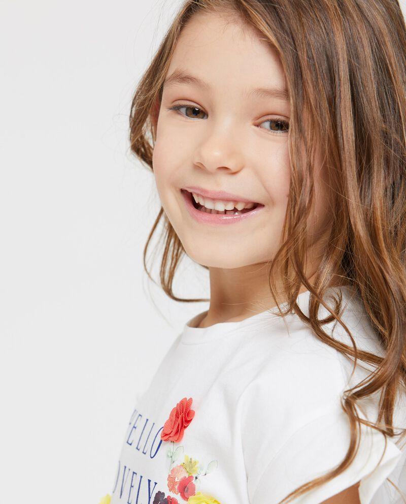 T-Shirt maniche corte volant stampa floreale