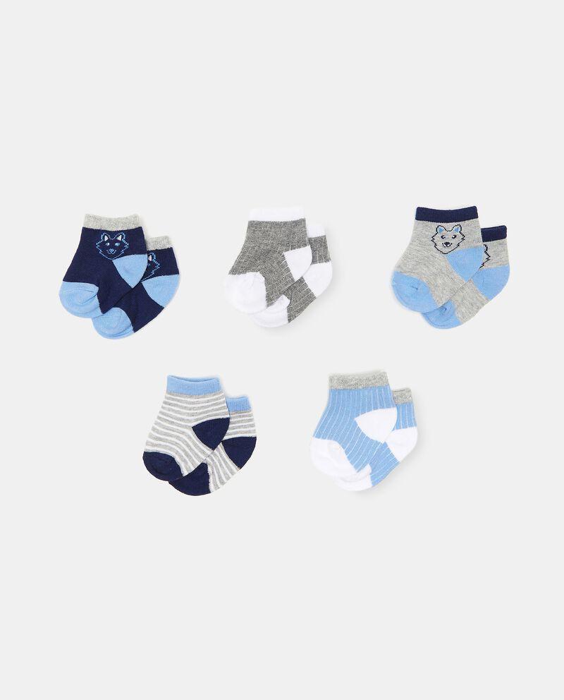 Set di 5 paia di calzini di cotone organico neonato cover