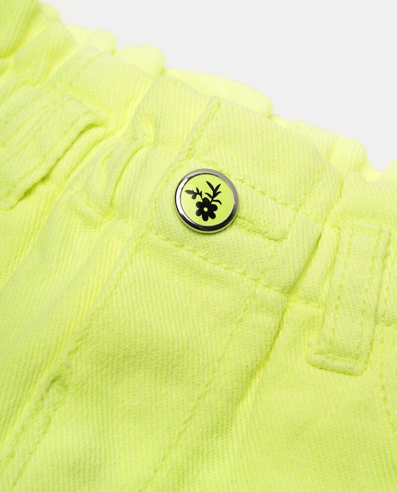 Shorts in lino misto cotone tinta unita neonata single tile 1