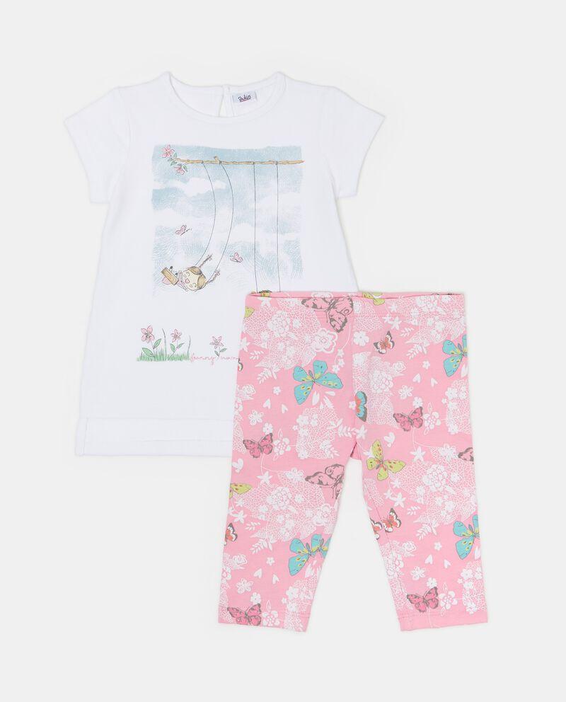 Set t-shirt spacchi e leggings neonata