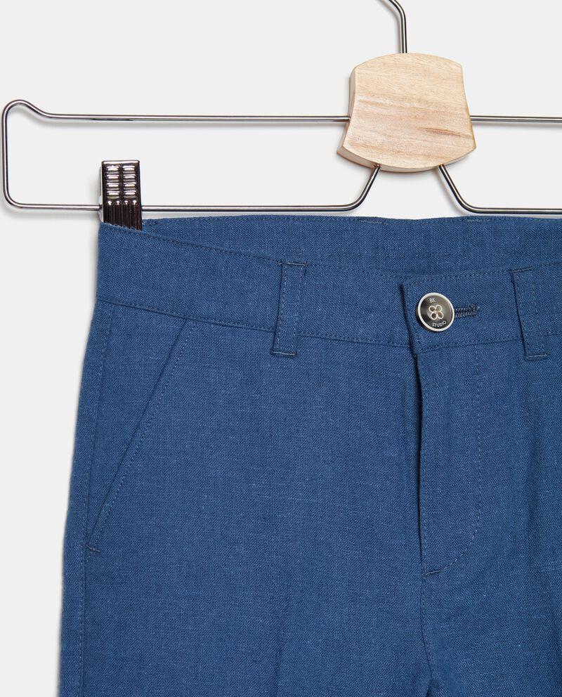 Pantaloni chino in cotone misto lino bambino