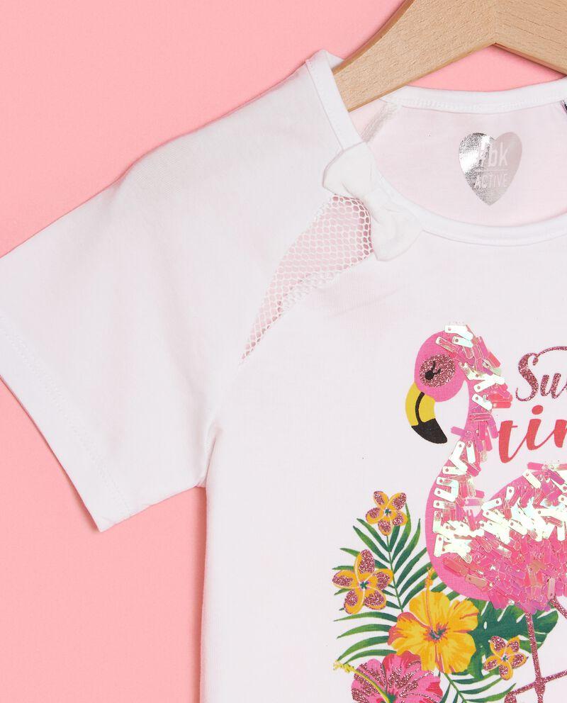 T-shirt con inserti in rete bambina