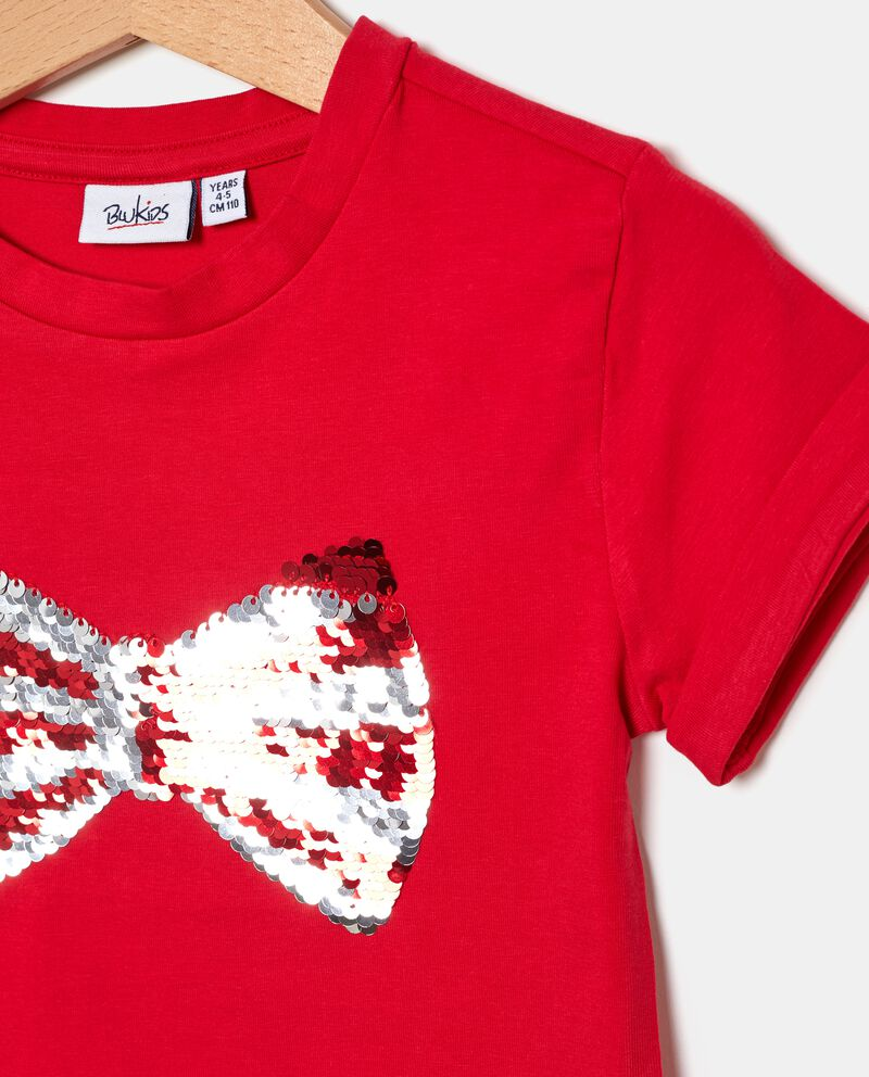 T-shirt con fiocco bambina