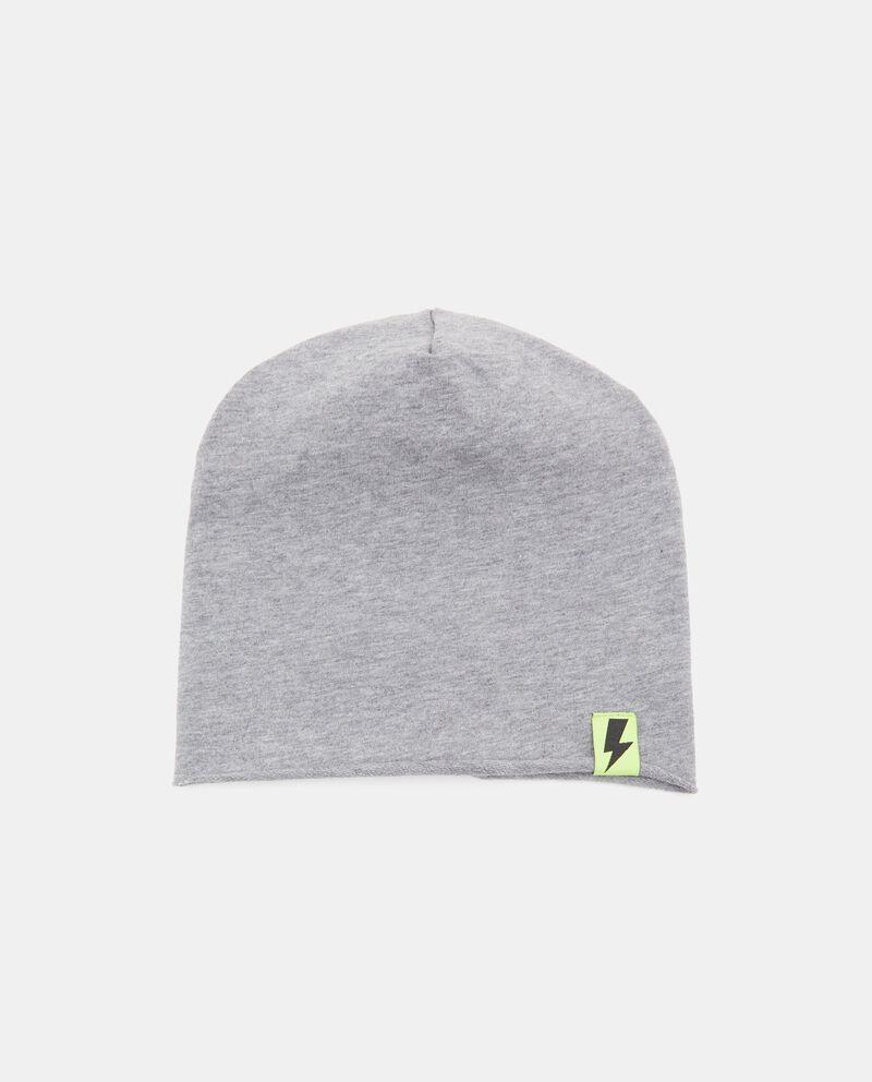 Cappellino con effetto mélange