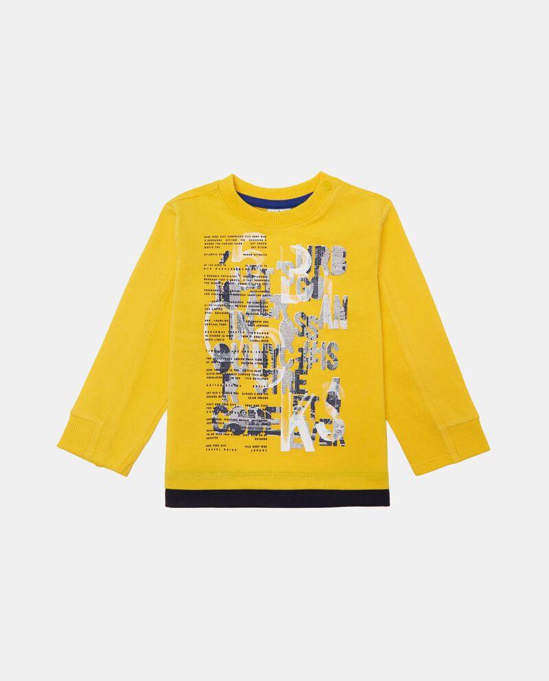 T-shirt cotone con finto doppio