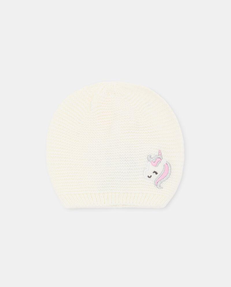 Berretto tricot con applicazione unicorno neonata cover