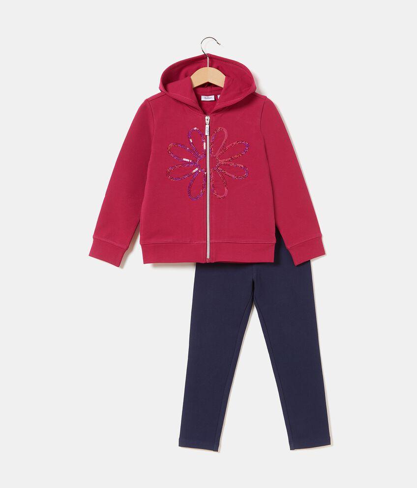 Set jogging con felpa e leggings bambina double 1
