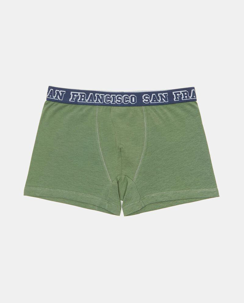 Set con 3 boxer in cotone elasticizzato bambinodouble bordered 1