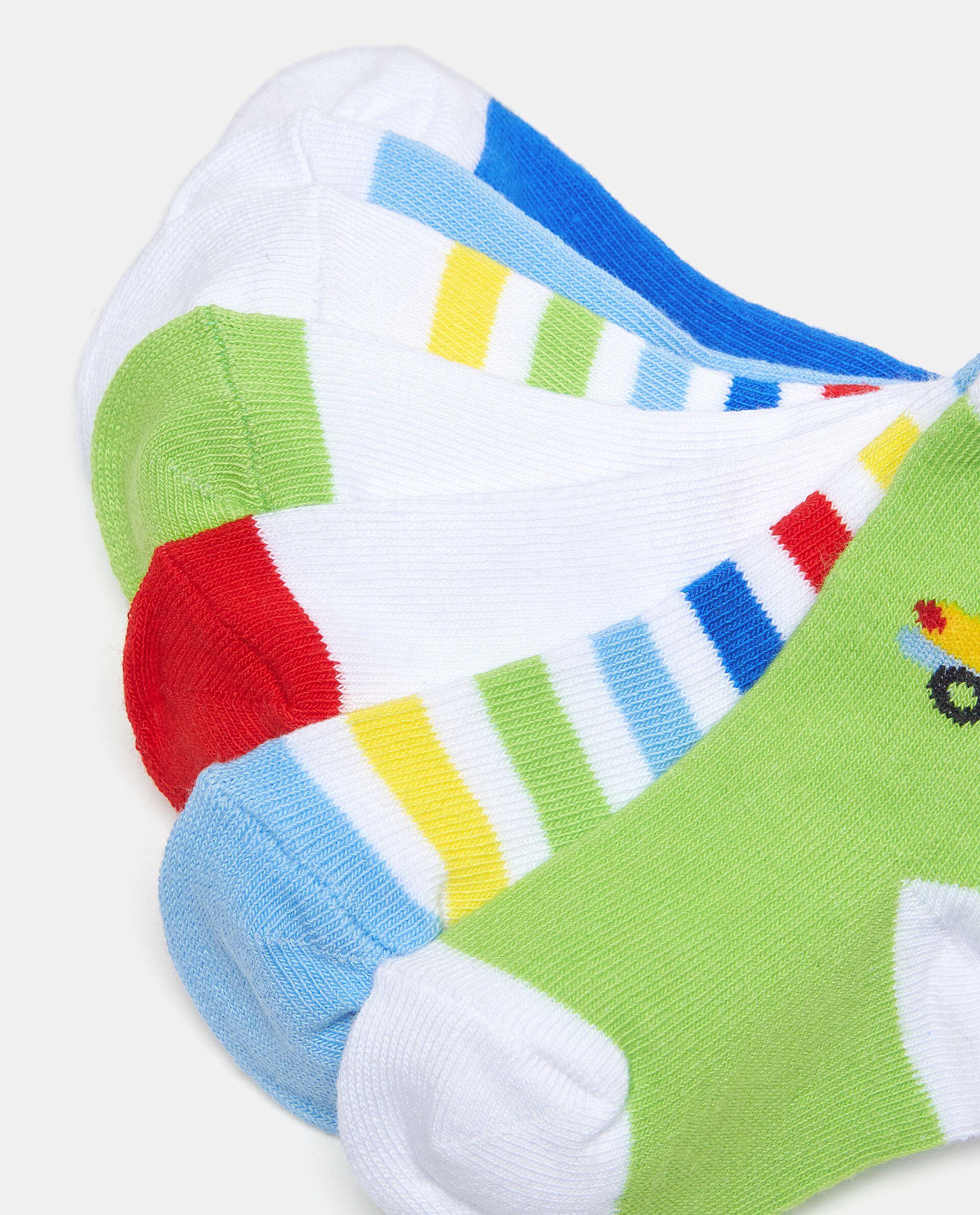 Set con sette paia di calzini di cotone elasticato neonato