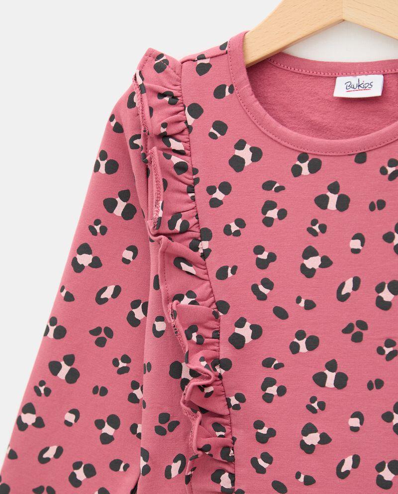 Vestito con stampa animalier in cotone stretch bambina single tile 1