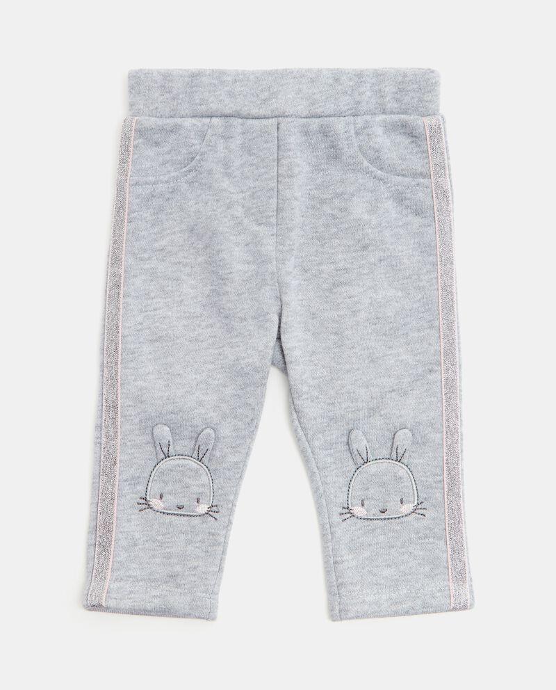 Pantaloni con bande in glitter neonata