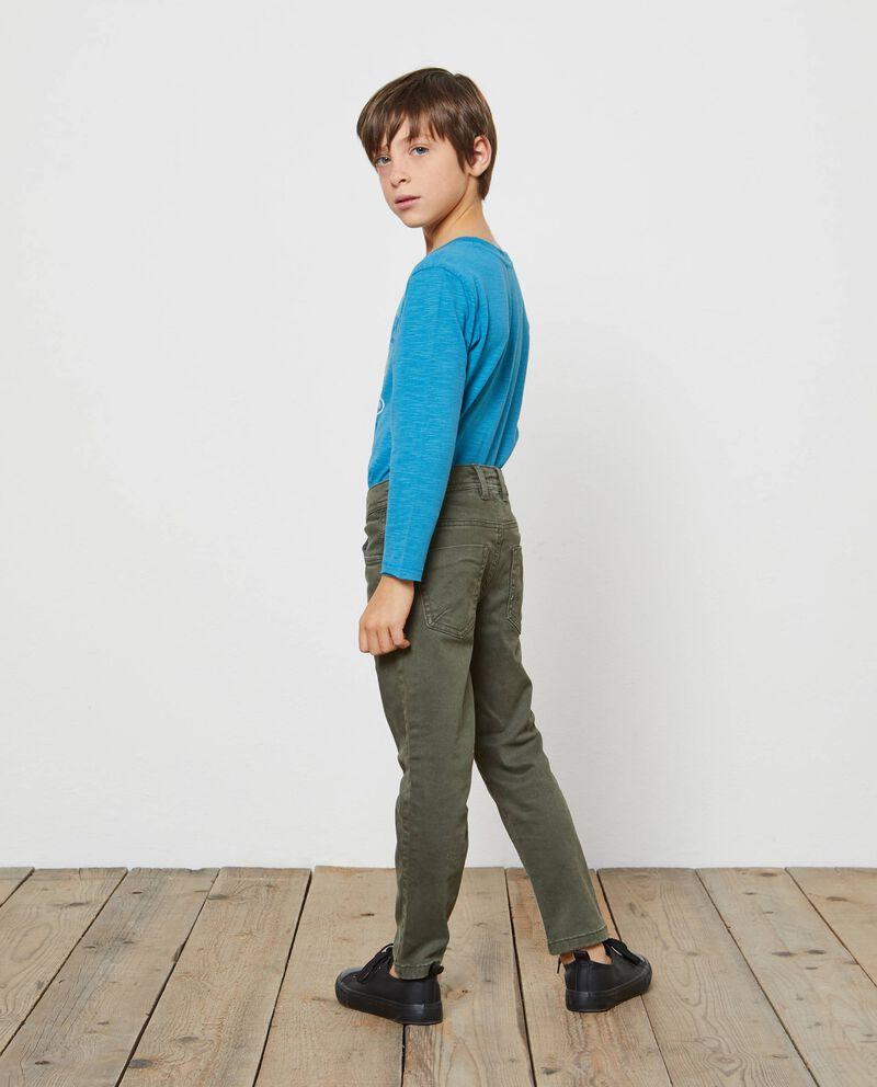 Pantaloni tinta unita cinque tasche