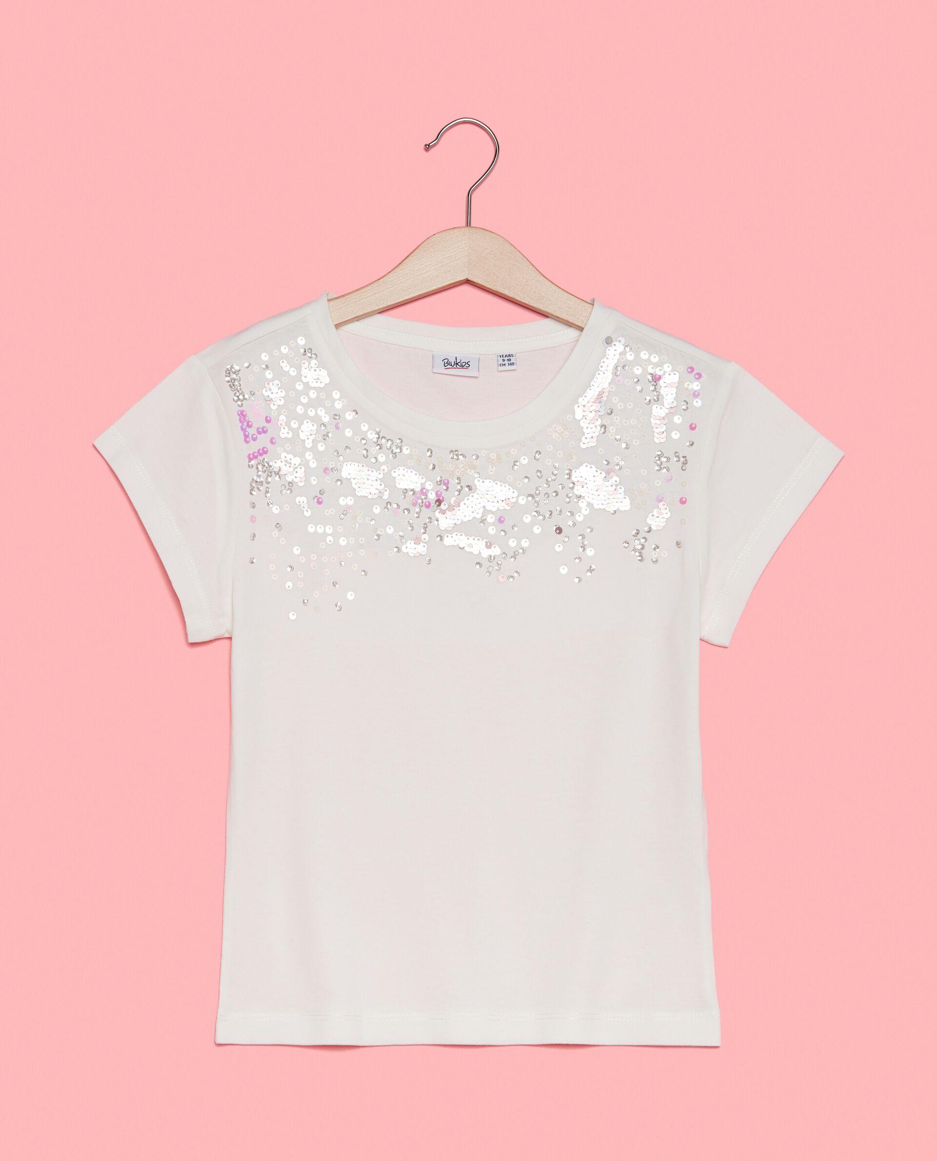 T-shirt con effetto degradé in paillettes in puro cotone