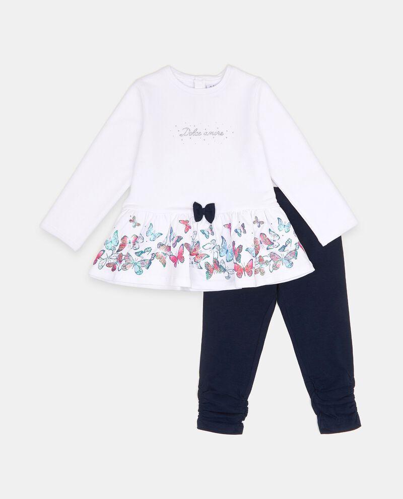 Set con maglia e leggings in puro cotone neonata cover