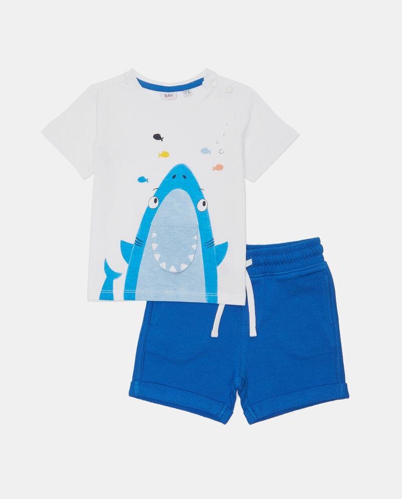 Jogging set in jersey di cotone organico neonato