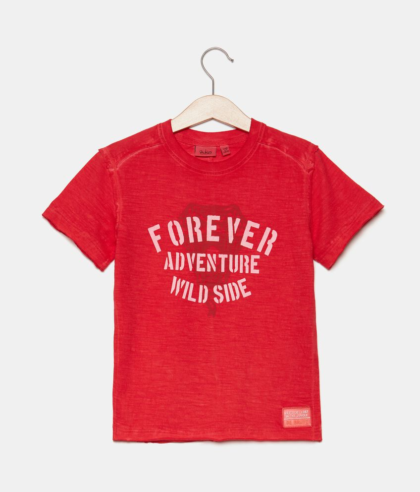 T-shirt in jersey cotone organico con stampa bambino