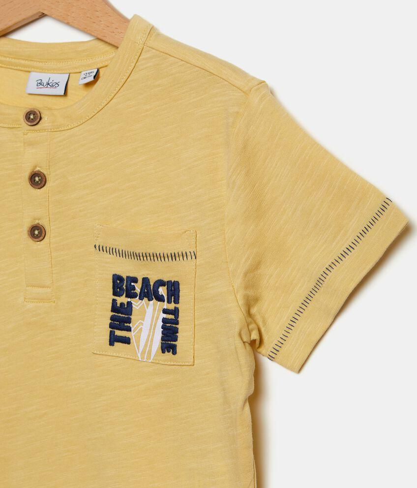 T-shirt in puro cotone con bottoncini bambino