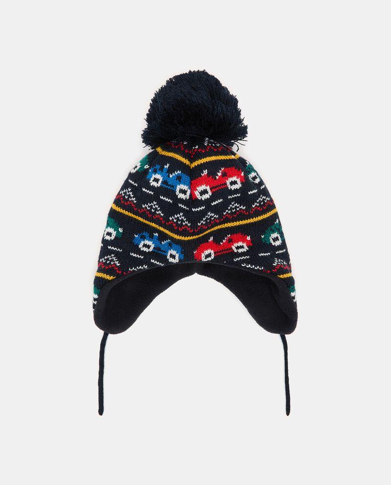 Berretto lavorato in maglia neonatodouble bordered 0