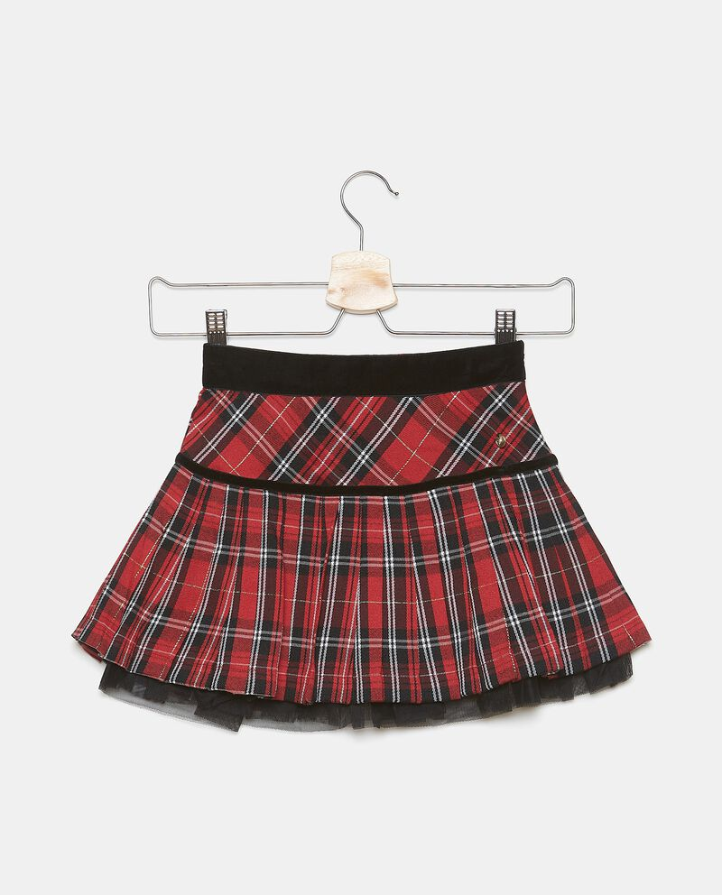 Gonna tartan con filo lurex bambina