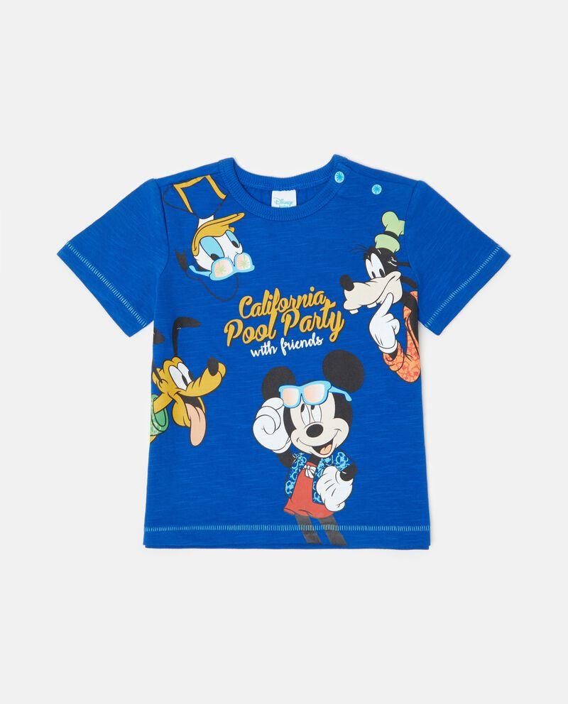 T-shirt in puro cotone con effetto mélange neonato