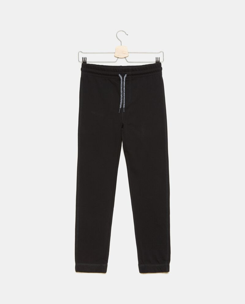 Pantaloni puro cotone in tinta unita ragazzo