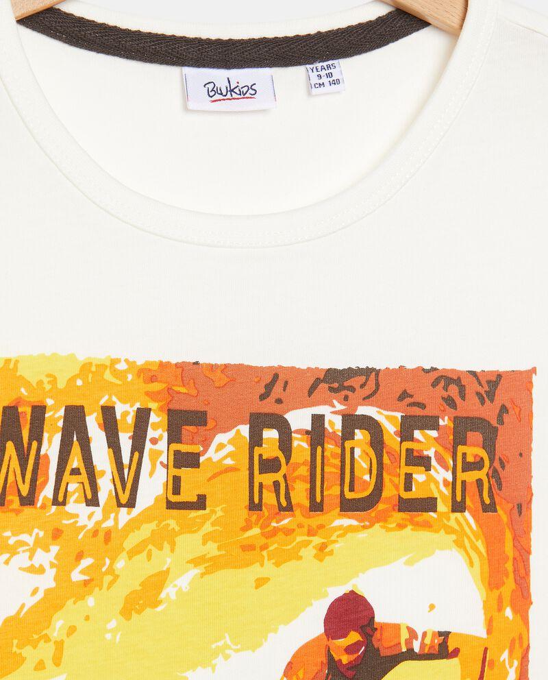T-shirt stampata in puro cotone ragazzo single tile 1