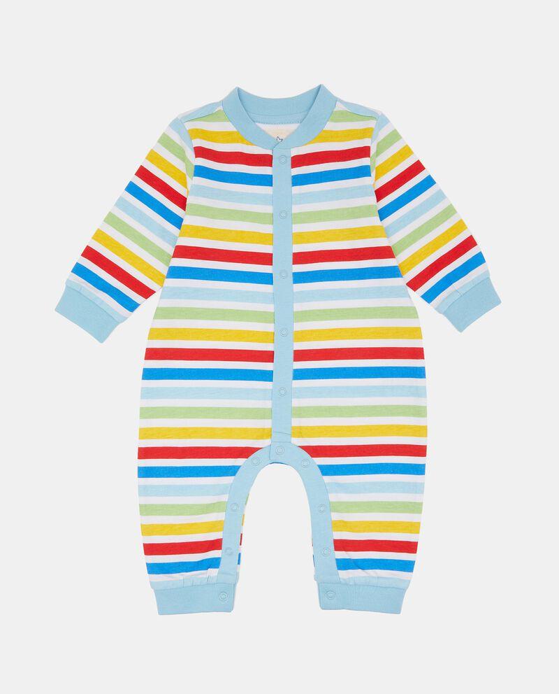Tutina senza piede in puro cotone neonata
