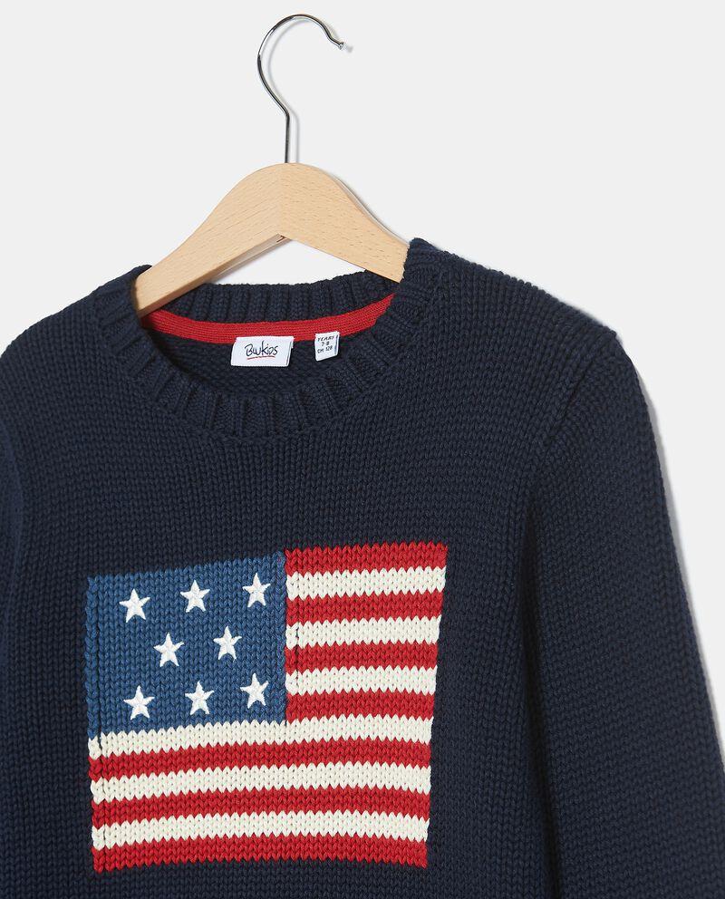 Maglioncino con bandiera americana bambino single tile 1